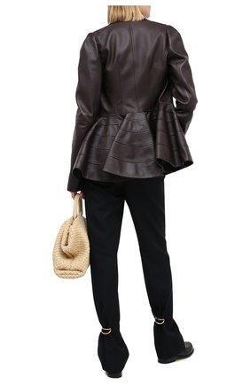Женские шерстяные брюки LOEWE темно-синего цвета, арт. S540331XAW | Фото 2