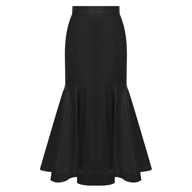 Кожаная юбка Loewe
