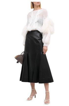 Женская кожаная юбка LOEWE черного цвета, арт. S540344X98 | Фото 2