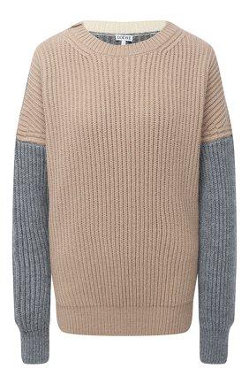 Женский свитер LOEWE бежевого цвета, арт. S540Y14K05   Фото 1