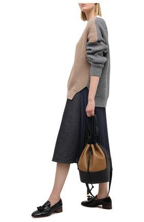 Женский свитер LOEWE бежевого цвета, арт. S540Y14K05   Фото 2