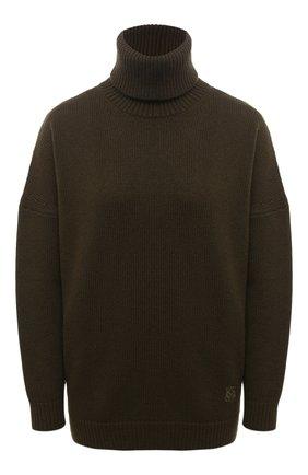 Женский кашемировый свитер LOEWE хаки цвета, арт. S540Y14K24 | Фото 1
