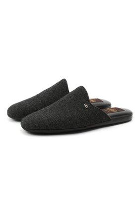 Мужского текстильные домашние туфли ALDO BRUE темно-серого цвета, арт. PCU100K-CN | Фото 1