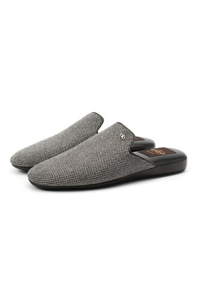 Мужского текстильные домашние туфли ALDO BRUE серого цвета, арт. PCU900K-BW | Фото 1