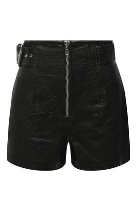 Женские кожаные шорты GRLFRND черного цвета, арт. GRF6 -S20 | Фото 1