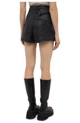Женские кожаные шорты GRLFRND черного цвета, арт. GRF6 -S20   Фото 4 (Женское Кросс-КТ: Шорты-одежда; Длина Ж (юбки, платья, шорты): Мини; Материал внешний: Кожа; Материал подклада: Синтетический материал)