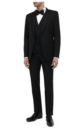 Мужские кожаные оксфорды SANTONI черного цвета, арт. MCCR16229BC3FVERN01 | Фото 2