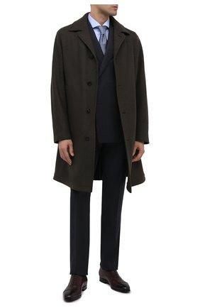 Мужские кожаные оксфорды SANTONI бордового цвета, арт. MCLE16207SI1ESCSQ48   Фото 2