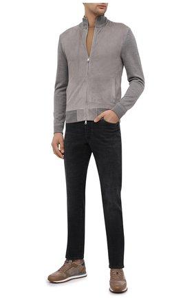 Мужская комбинированный кардиган RALPH LAUREN серого цвета, арт. 790799347 | Фото 2