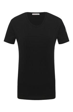 Женская хлопковая футболка MONCLER черного цвета, арт. F2-093-8C732-00-V8058 | Фото 1