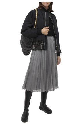 Женская юбка MONCLER серебряного цвета, арт. F2-093-2D711-00-C0580 | Фото 2
