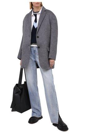 Женский шерстяной свитер MONCLER синего цвета, арт. F2-093-9C756-00-A9563 | Фото 2