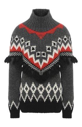 Женский свитер MONCLER серого цвета, арт. F2-093-9F701-10-A9555 | Фото 1