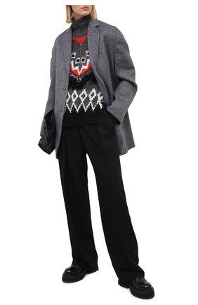 Женский свитер MONCLER серого цвета, арт. F2-093-9F701-10-A9555 | Фото 2