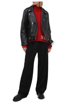 Женский свитер из шерсти и кашемира MONCLER красного цвета, арт. F2-093-9F717-00-A9564   Фото 2