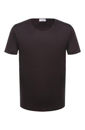 Мужская хлопковая футболка  ZIMMERLI темно-серого цвета, арт. 286-1441 | Фото 1