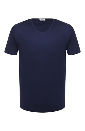 Мужская хлопковая футболка  ZIMMERLI темно-синего цвета, арт. 286-1441 | Фото 1