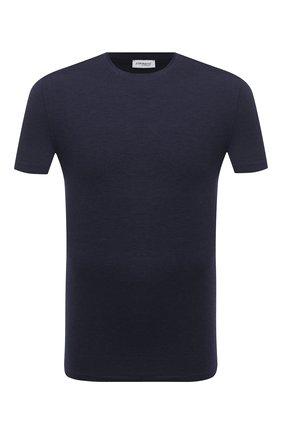 Мужские футболка ZIMMERLI темно-синего цвета, арт. 718-8251   Фото 1