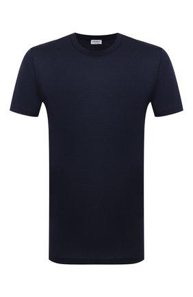 Мужская хлопковая футболка ZIMMERLI темно-синего цвета, арт. 222-1473 | Фото 1