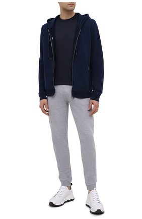 Мужская хлопковая футболка ZIMMERLI темно-синего цвета, арт. 222-1473 | Фото 2