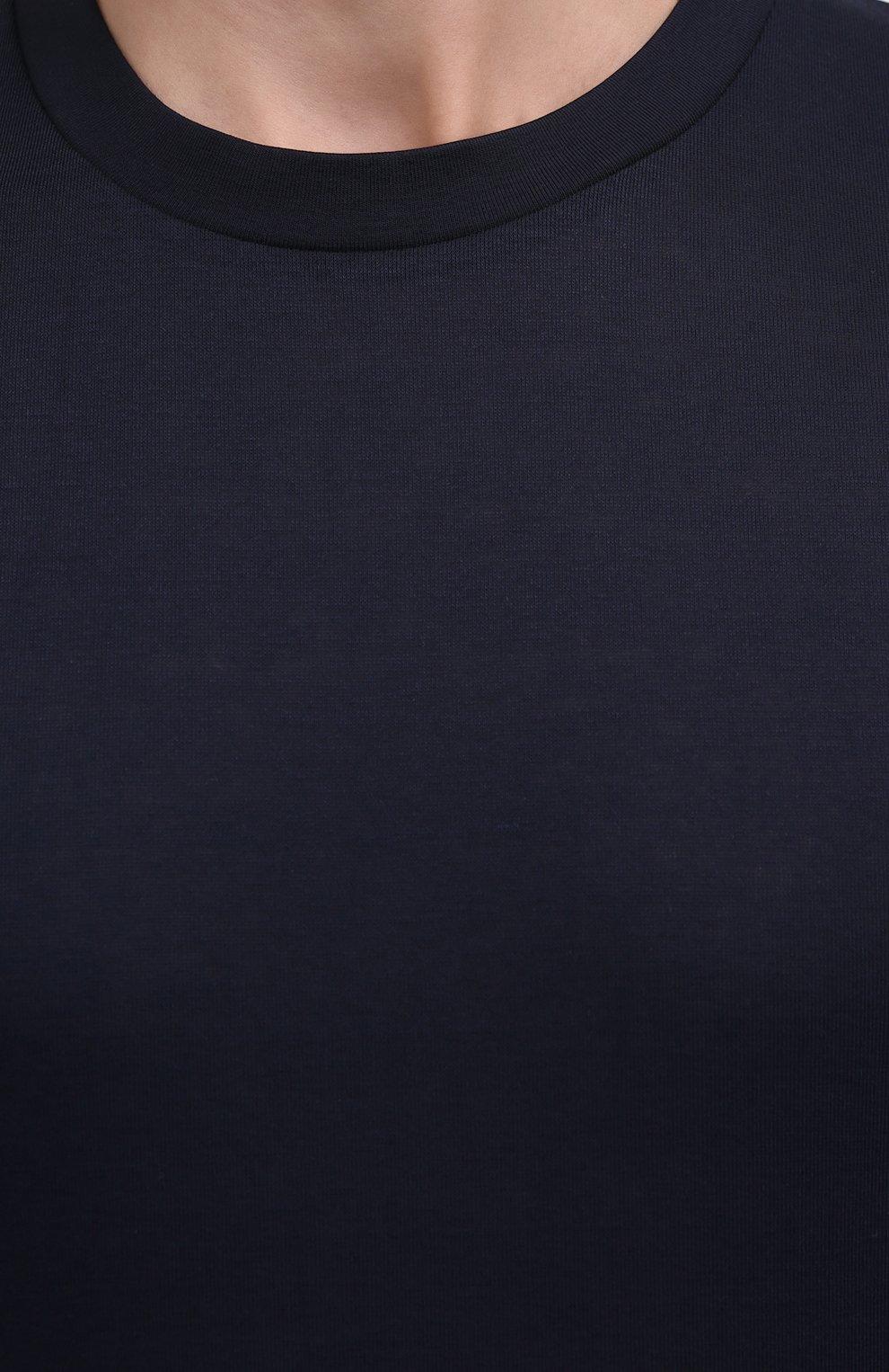 Мужская хлопковая футболка ZIMMERLI темно-синего цвета, арт. 222-1473 | Фото 5 (Кросс-КТ: домашняя одежда; Рукава: Короткие; Длина (для топов): Стандартные; Материал внешний: Хлопок; Мужское Кросс-КТ: Футболка-белье)