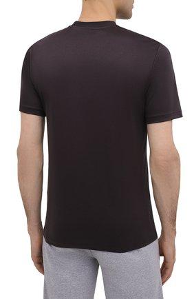 Мужская хлопковая футболка ZIMMERLI темно-серого цвета, арт. 286-1447 | Фото 4 (Кросс-КТ: домашняя одежда; Рукава: Короткие; Длина (для топов): Стандартные; Материал внешний: Хлопок; Мужское Кросс-КТ: Футболка-белье)