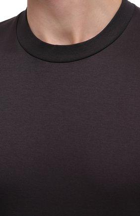Мужская хлопковая футболка ZIMMERLI темно-серого цвета, арт. 286-1447 | Фото 5 (Кросс-КТ: домашняя одежда; Рукава: Короткие; Длина (для топов): Стандартные; Материал внешний: Хлопок; Мужское Кросс-КТ: Футболка-белье)