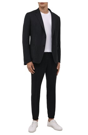 Мужской шерстяной костюм Z ZEGNA темно-серого цвета, арт. 824711/2X7YGW | Фото 1 (Материал внешний: Шерсть; Рукава: Длинные; Костюмы М: Однобортный; Стили: Кэжуэл; Материал подклада: Синтетический материал)