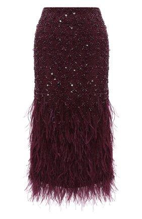 Женская юбка VALENTINO бордового цвета, арт. UB3RA6801ED   Фото 1