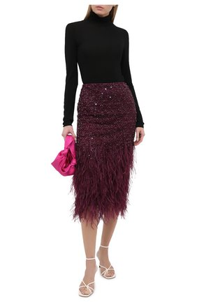 Женская юбка VALENTINO бордового цвета, арт. UB3RA6801ED   Фото 2