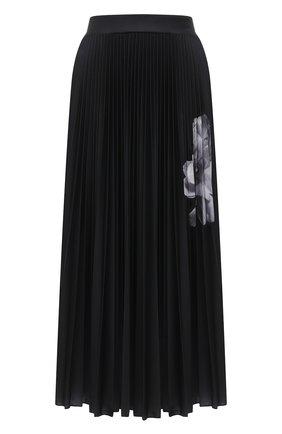 Женская юбка VALENTINO черно-белого цвета, арт. UB0MD02K5W0 | Фото 1