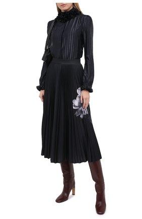Женская юбка VALENTINO черно-белого цвета, арт. UB0MD02K5W0 | Фото 2