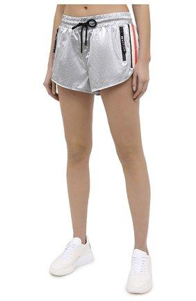 Женские шорты P.E. NATION серебряного цвета, арт. 20PE2S028   Фото 3 (Длина Ж (юбки, платья, шорты): Мини; Кросс-КТ: Спорт; Материал внешний: Синтетический материал; Материал подклада: Вискоза)