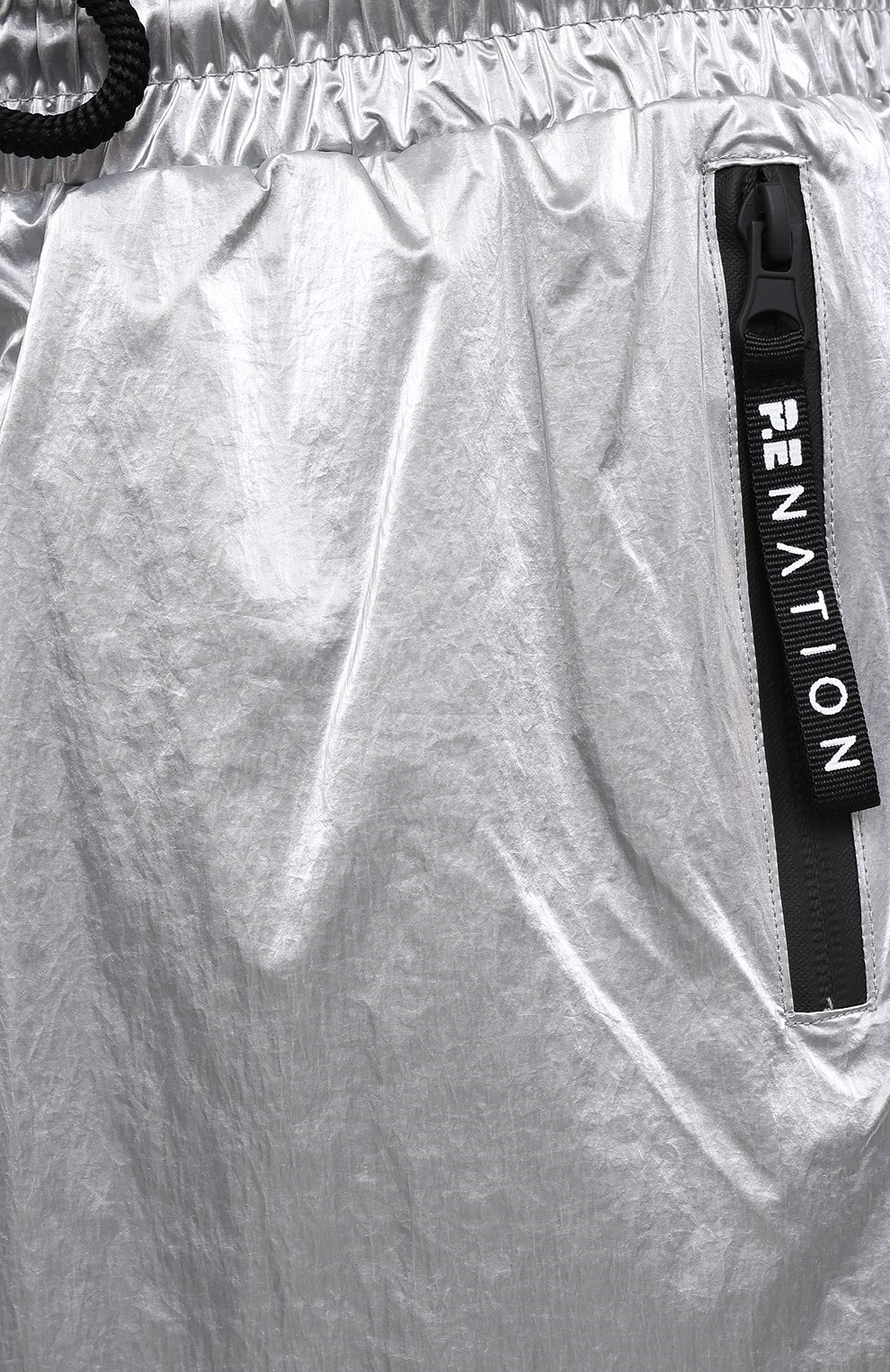 Женские шорты P.E. NATION серебряного цвета, арт. 20PE2S028   Фото 5 (Длина Ж (юбки, платья, шорты): Мини; Кросс-КТ: Спорт; Материал внешний: Синтетический материал; Материал подклада: Вискоза)