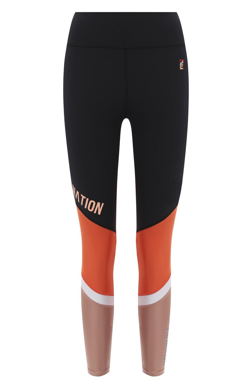 Женские леггинсы P.E. NATION черного цвета, арт. 20PE2G041 | Фото 1 (Длина (брюки, джинсы): Стандартные; Кросс-КТ: Спорт; Материал внешний: Синтетический материал; Женское Кросс-КТ: Леггинсы-спорт)
