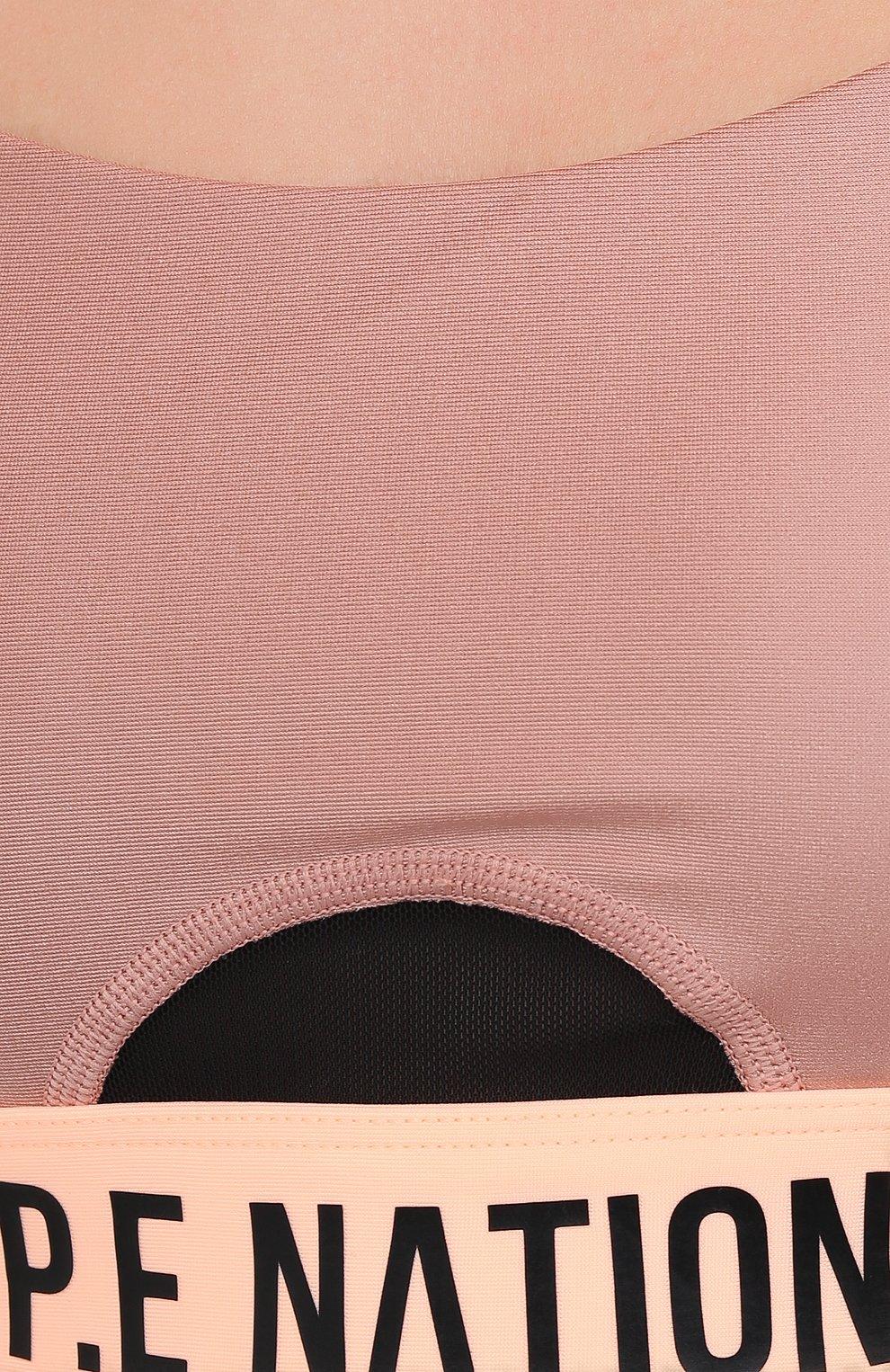 Женский топ P.E. NATION розового цвета, арт. 20PE2C103 | Фото 5 (Женское Кросс-КТ: Топ-спорт; Кросс-КТ: без рукавов, Спорт; Материал внешний: Синтетический материал; Длина (для топов): Укороченные)