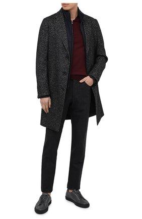Мужские хлопковые брюки CORNELIANI темно-серого цвета, арт. 864L01-0818506/00   Фото 2