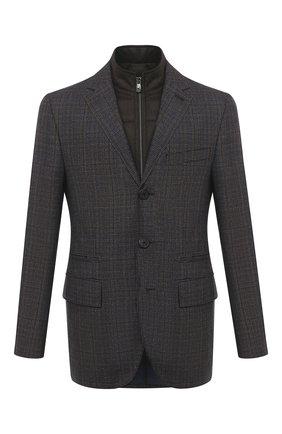 Мужской шерстяной пиджак CORNELIANI коричневого цвета, арт. 866557-0816211/80   Фото 1
