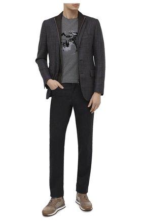Мужской шерстяной пиджак CORNELIANI коричневого цвета, арт. 866557-0816211/80   Фото 2