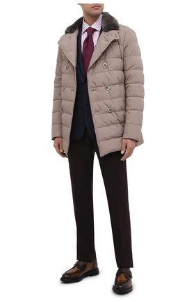 Мужской шерстяной пиджак CORNELIANI фиолетового цвета, арт. 866Y70-0816220/90 | Фото 2