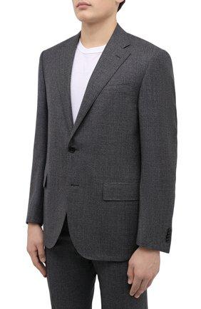 Мужской шерстяной костюм CORNELIANI серого цвета, арт. 867268-0817267/92 Q1   Фото 2
