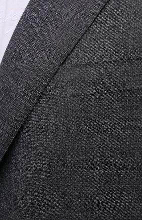 Мужской шерстяной костюм CORNELIANI серого цвета, арт. 867268-0817267/92 Q1   Фото 6 (Материал внешний: Шерсть; Рукава: Длинные; Костюмы М: Однобортный; Стили: Классический; Материал подклада: Купро)