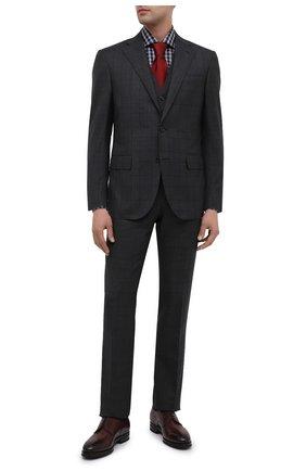 Мужской шерстяной костюм-тройка CORNELIANI темно-серого цвета, арт. 868268-0817235/92 Q1 | Фото 1