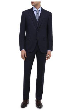 Мужской шерстяной костюм-тройка CORNELIANI синего цвета, арт. 868268-0817520/92 Q1 | Фото 1