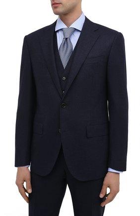 Мужской шерстяной костюм-тройка CORNELIANI синего цвета, арт. 868268-0817520/92 Q1 | Фото 2