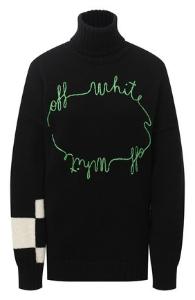Женская свитер OFF-WHITE черного цвета, арт. 0WHF008E20KNI0021055 | Фото 1