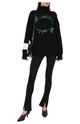 Женская свитер OFF-WHITE черного цвета, арт. 0WHF008E20KNI0021055 | Фото 2