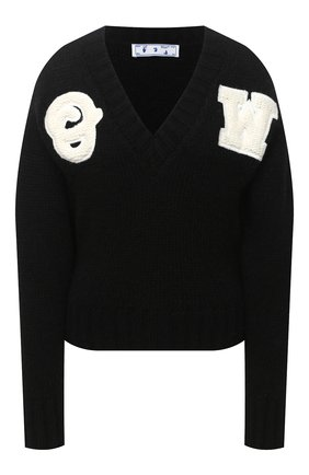 Женская шерстяной свитер OFF-WHITE черного цвета, арт. 0WHD014E20KNI0011001 | Фото 1