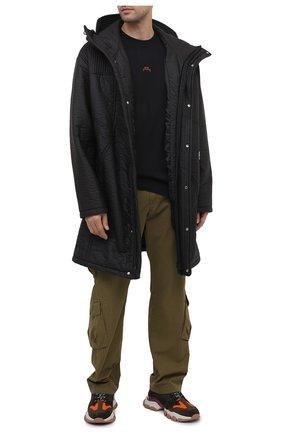 Мужская хлопковая футболка A-COLD-WALL* черного цвета, арт. ACWMTS017E | Фото 2