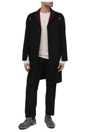 Мужской шерстяное пальто A-COLD-WALL* черного цвета, арт. ACWMH013 | Фото 2